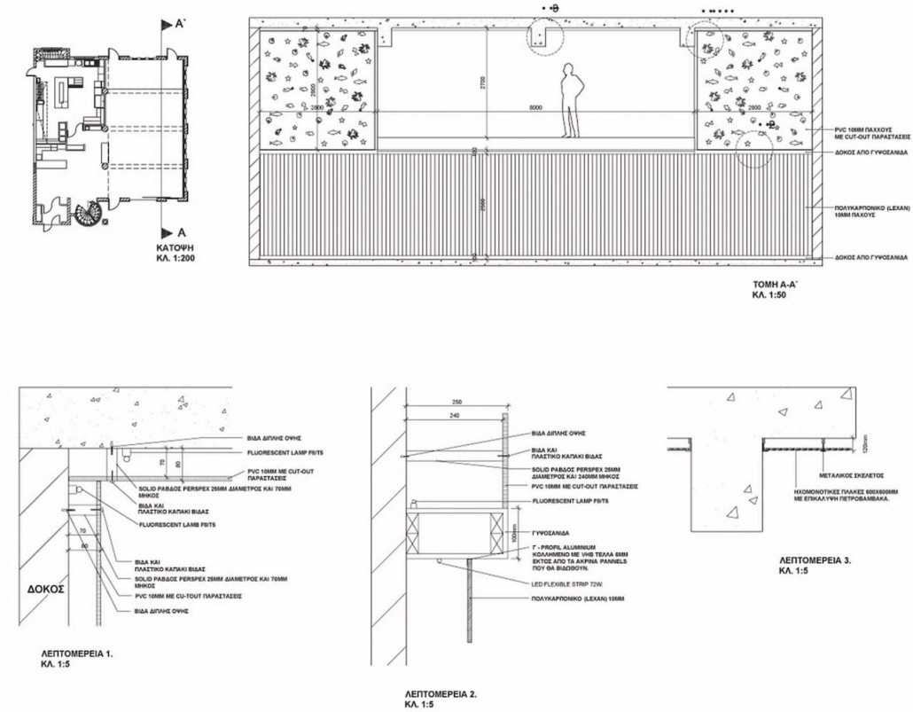 Restaurant section construction details