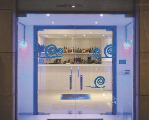 entrance bar interactive liquid tile
