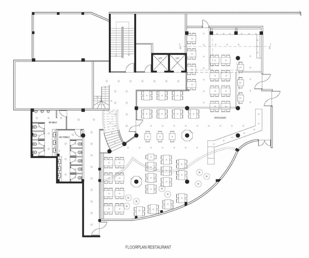 hotel restaurant furniture layout