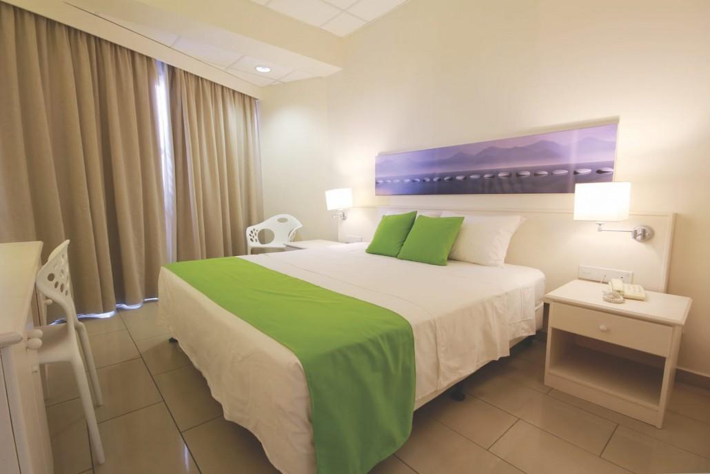 room interior white limegreen sand