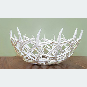 A. A handmade starfish bowl