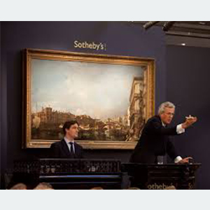 H. A Sotheby\'s auction painting