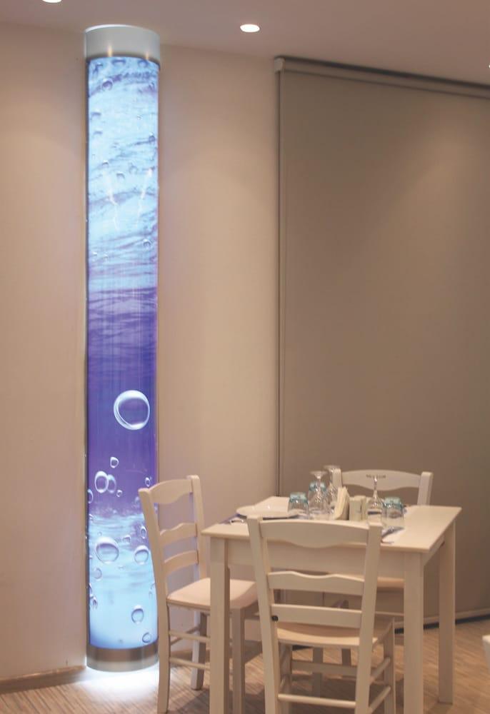 sea column light fish restaurant