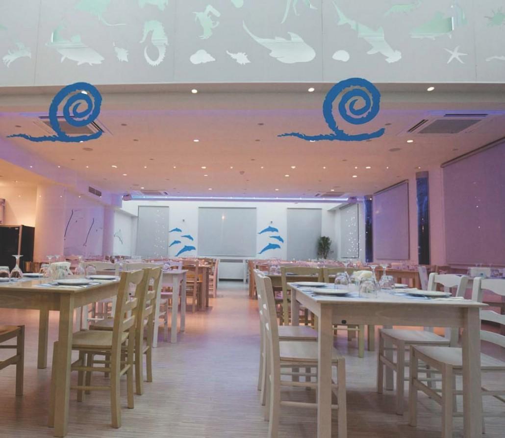 sea food restaurant interior design daytime