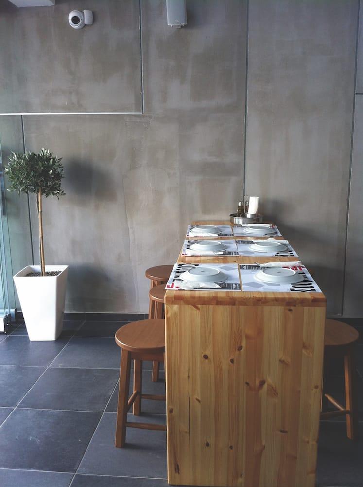 design bar counter stools contemporary interior congrete wood