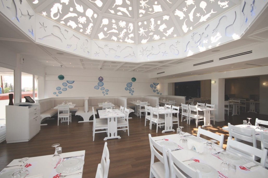 fish restaurant interior design daytime