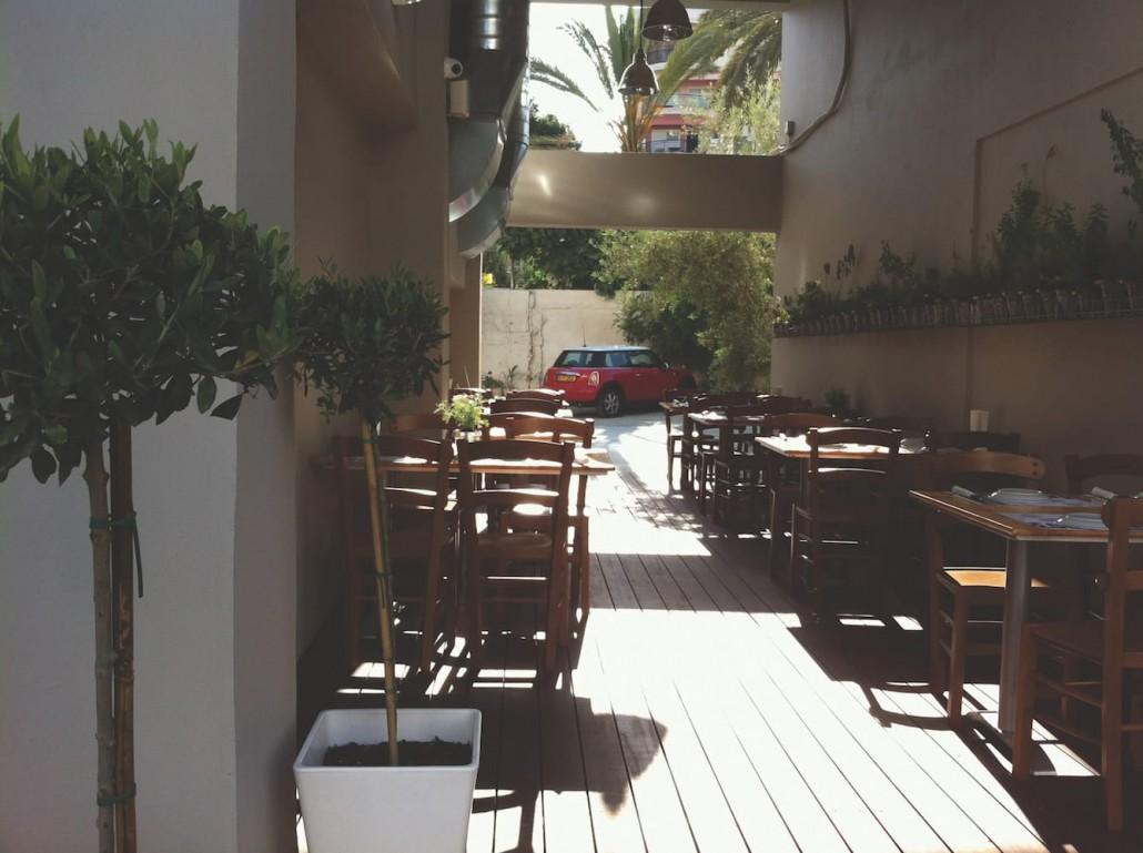 peaceful patio garden cypriot plants herbs