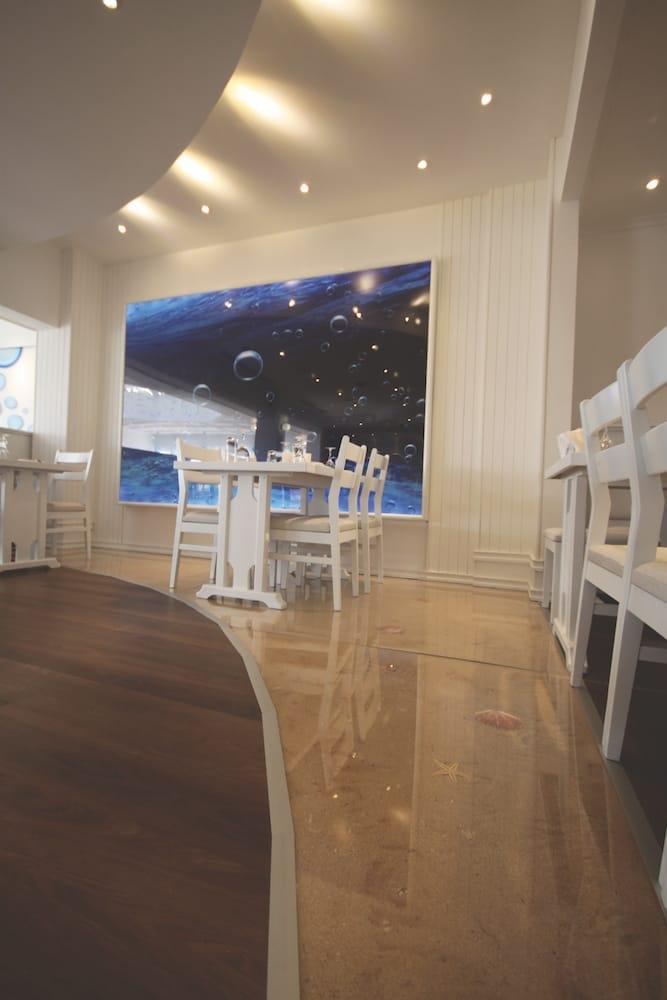 sea sand shells backlight interior design nighttime