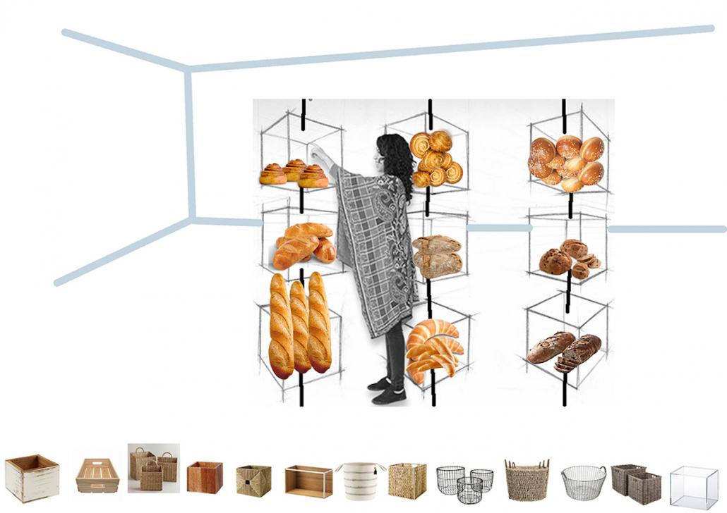 Greek bakery - design - self service area